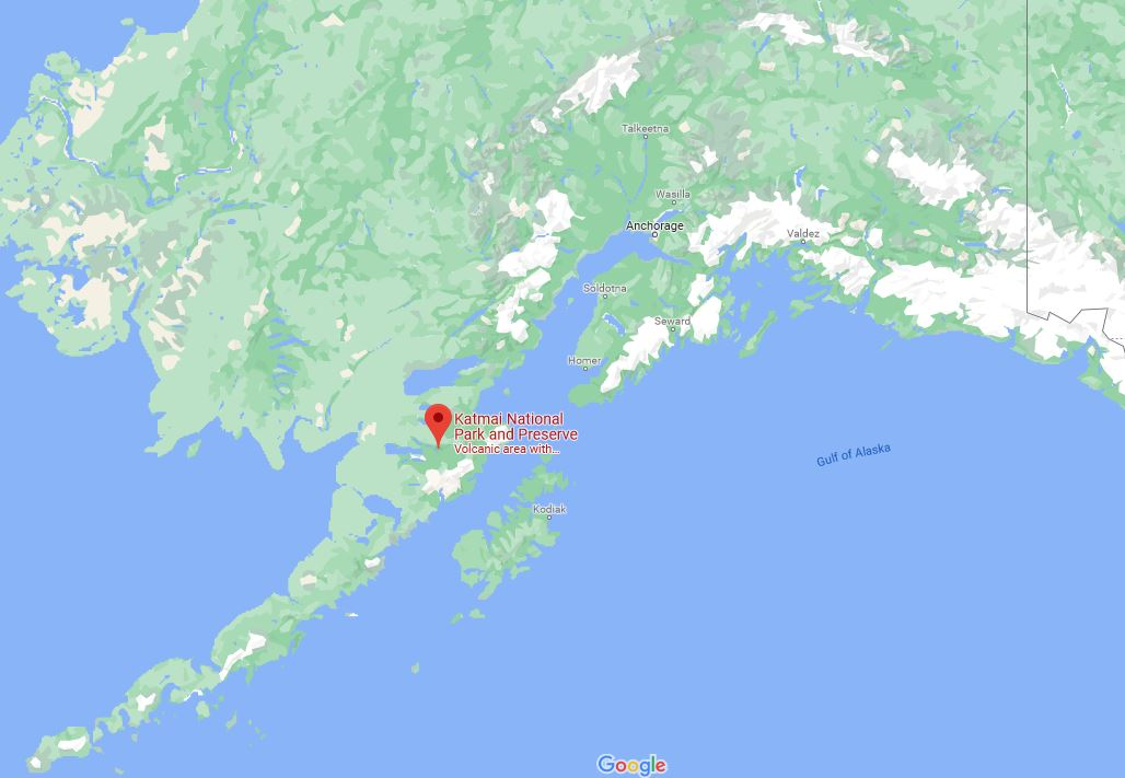 Katmai-map